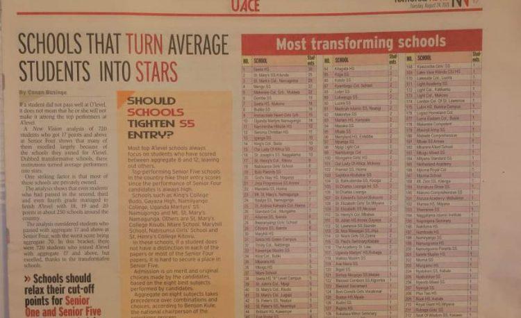 Mengo senior School academic performance